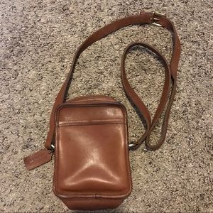 Coach Brown leather crossbody handbag vintage